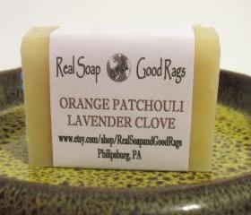 Orange Patchouli Lavender Clove Soap All Natural Handcrafted 
