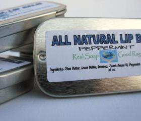 All Natural Peppermint Lip Balm Slider Tin